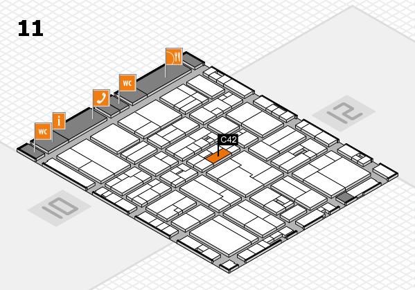 drupa 2016 hall map (Hall 11): stand C42