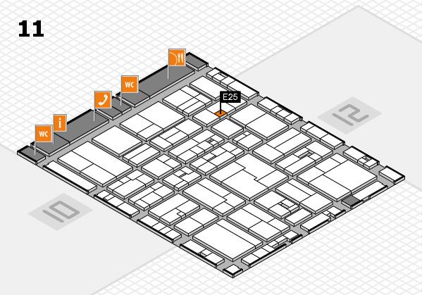 drupa 2016 hall map (Hall 11): stand E25