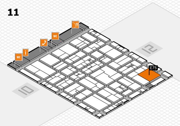 drupa 2016 Hallenplan (Halle 11): Stand E75