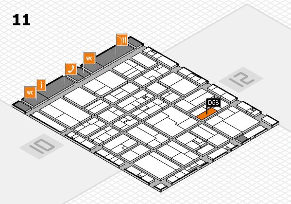 drupa 2016 hall map (Hall 11): stand D58