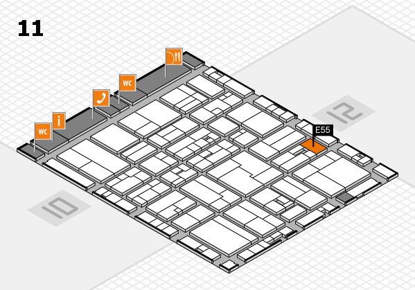 drupa 2016 hall map (Hall 11): stand E55
