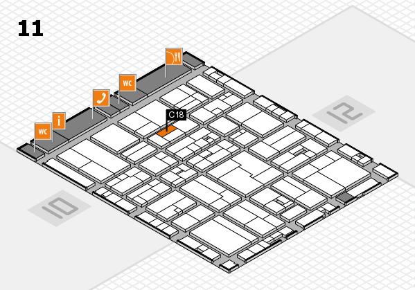 drupa 2016 hall map (Hall 11): stand C18