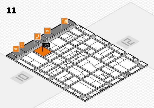 drupa 2016 Hallenplan (Halle 11): Stand B02