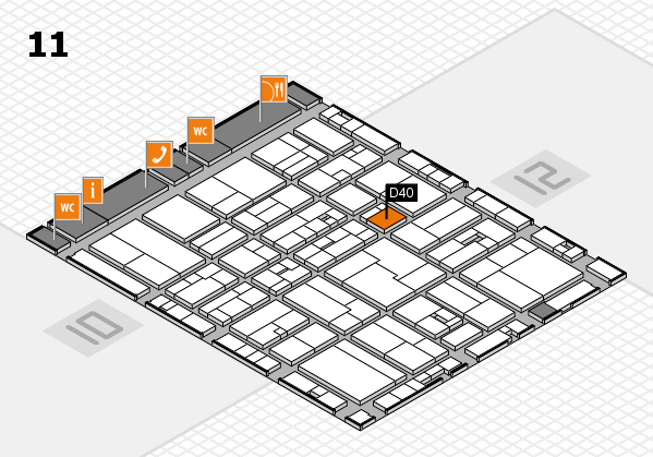 drupa 2016 Hallenplan (Halle 11): Stand D40