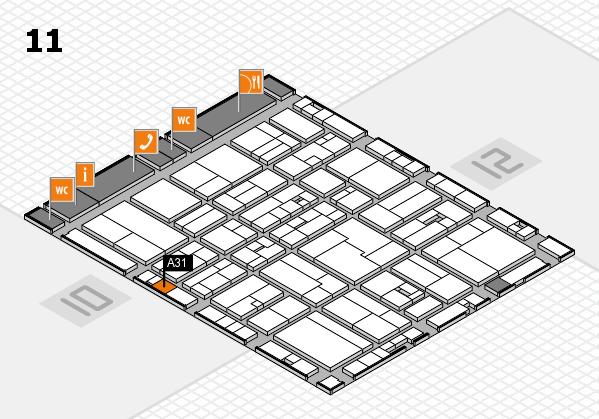 drupa 2016 Hallenplan (Halle 11): Stand A31