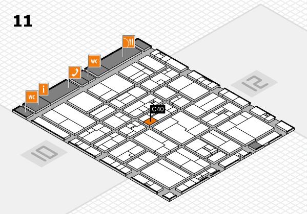 drupa 2016 Hallenplan (Halle 11): Stand C40