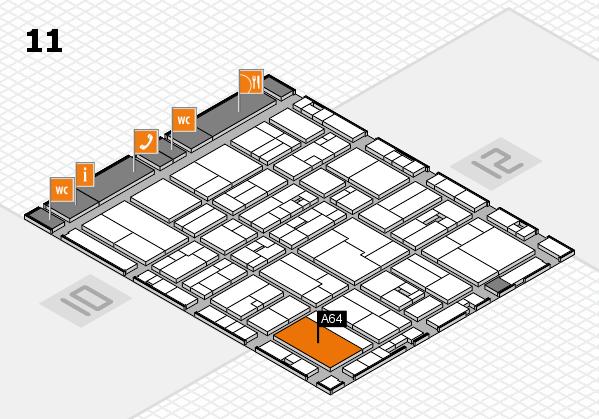 drupa 2016 Hallenplan (Halle 11): Stand A64