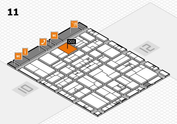 drupa 2016 Hallenplan (Halle 11): Stand D03