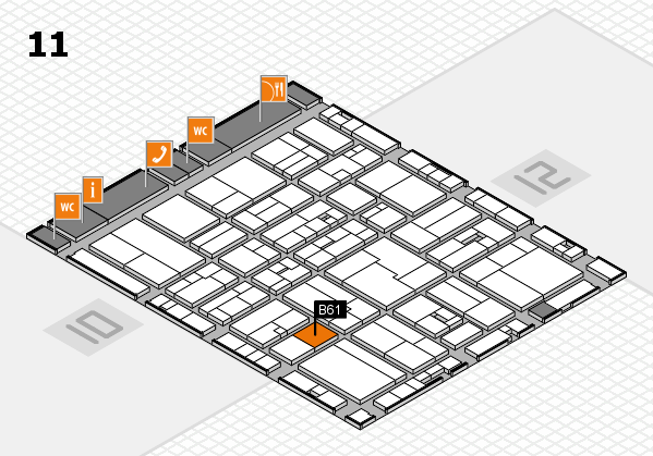 drupa 2016 Hallenplan (Halle 11): Stand B61
