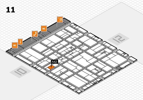 drupa 2016 Hallenplan (Halle 11): Stand A42