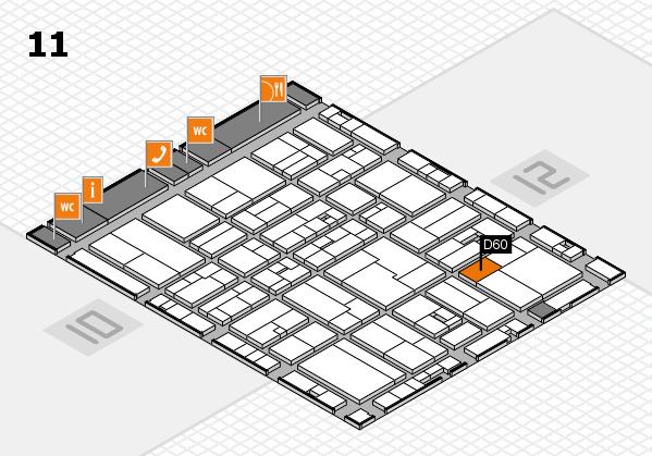 drupa 2016 Hallenplan (Halle 11): Stand D60