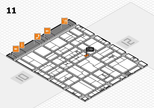 drupa 2016 hall map (Hall 11): stand D39