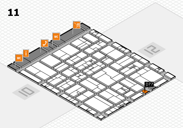 drupa 2016 hall map (Hall 11): stand D77
