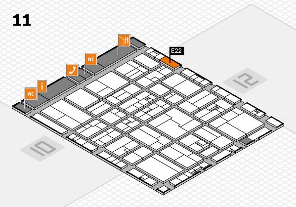 drupa 2016 Hallenplan (Halle 11): Stand E22