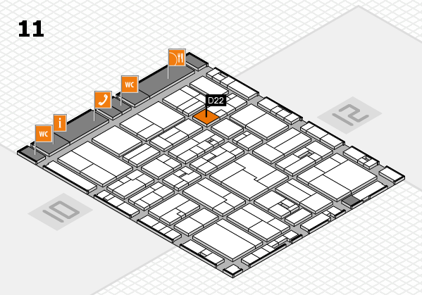 drupa 2016 Hallenplan (Halle 11): Stand D22