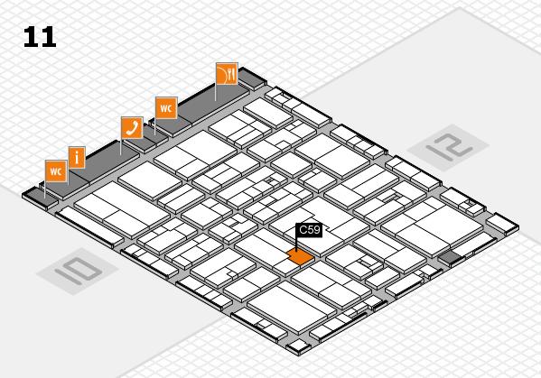 drupa 2016 hall map (Hall 11): stand C59