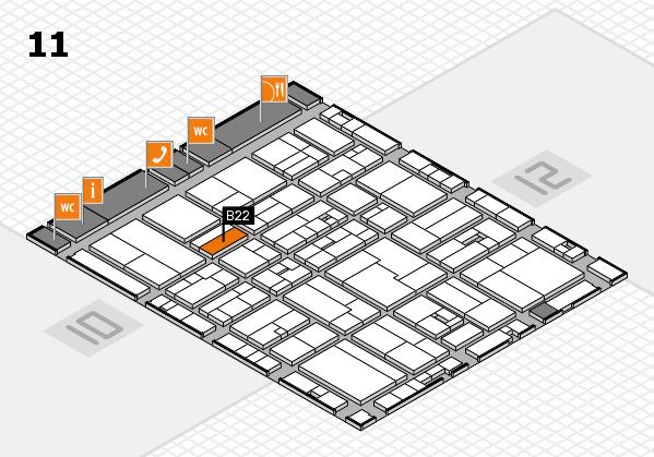 drupa 2016 hall map (Hall 11): stand B22