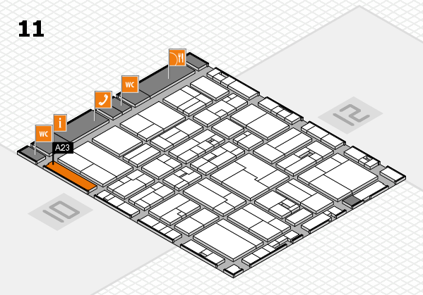 drupa 2016 hall map (Hall 11): stand A23