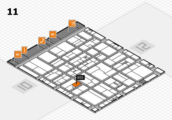 drupa 2016 hall map (Hall 11): stand B55