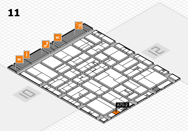 drupa 2016 hall map (Hall 11): stand A70-2