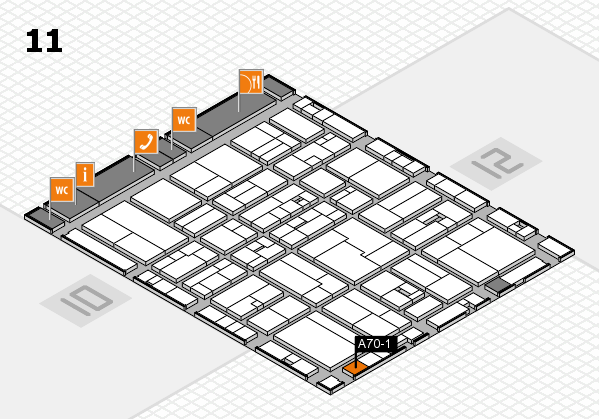 drupa 2016 hall map (Hall 11): stand A70-1