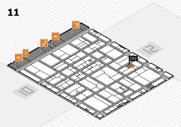 drupa 2016 Hallenplan (Halle 11): Stand D52