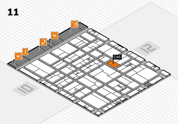 drupa 2016 Hallenplan (Halle 11): Stand D46