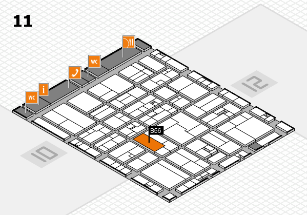 drupa 2016 Hallenplan (Halle 11): Stand B56