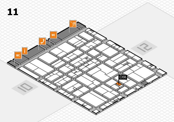 drupa 2016 Hallenplan (Halle 11): Stand C68