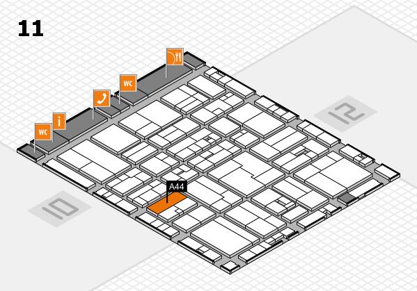 drupa 2016 Hallenplan (Halle 11): Stand A44