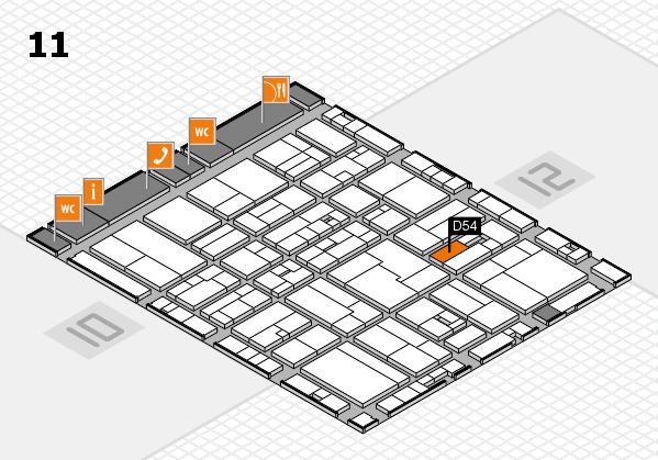 drupa 2016 hall map (Hall 11): stand D54