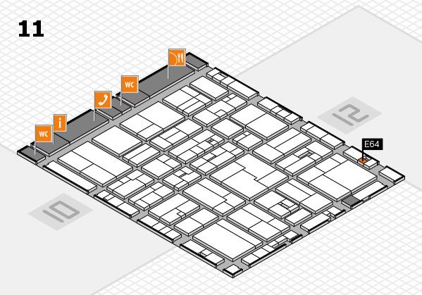 drupa 2016 hall map (Hall 11): stand E64