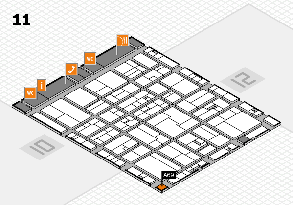 drupa 2016 hall map (Hall 11): stand A69