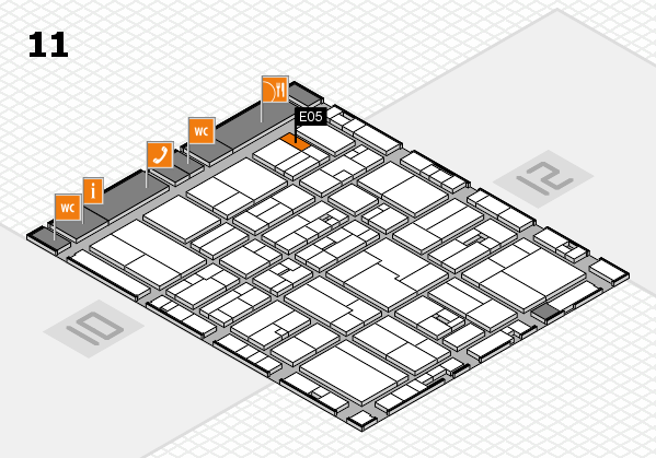 drupa 2016 Hallenplan (Halle 11): Stand E05