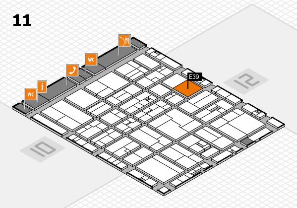 drupa 2016 hall map (Hall 11): stand E39