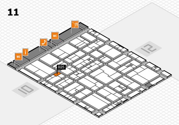 drupa 2016 hall map (Hall 11): stand B25