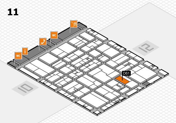 drupa 2016 Hallenplan (Halle 11): Stand D61