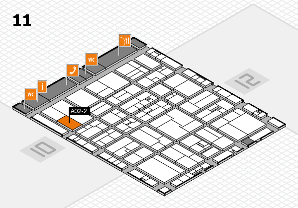 drupa 2016 hall map (Hall 11): stand A02-2