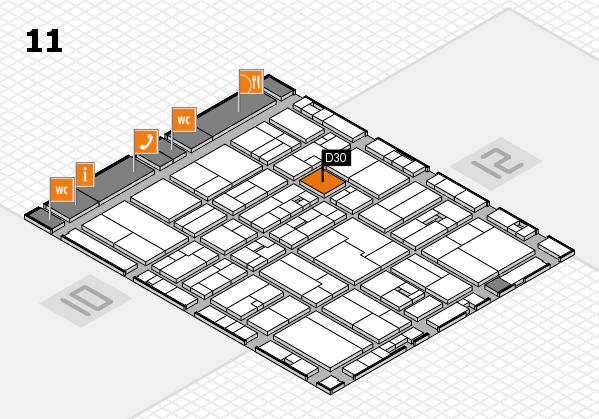 drupa 2016 hall map (Hall 11): stand D30