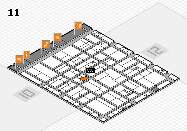 drupa 2016 hall map (Hall 11): stand C33