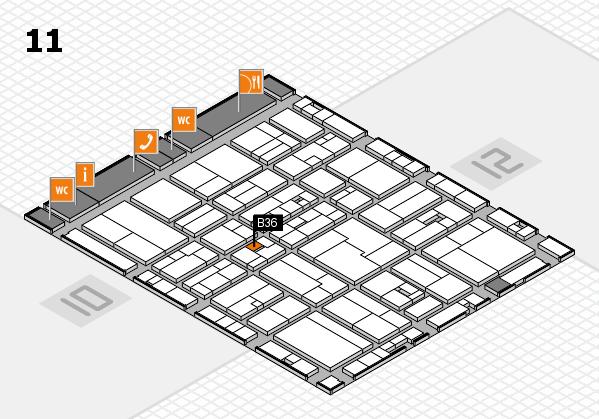 drupa 2016 hall map (Hall 11): stand B36