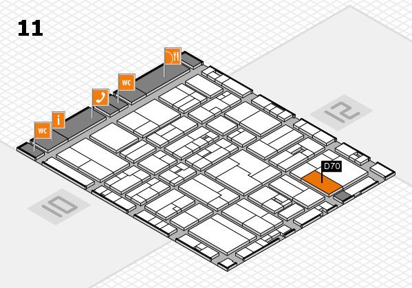 drupa 2016 hall map (Hall 11): stand D70