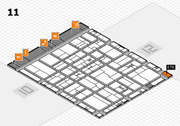 drupa 2016 Hallenplan (Halle 11): Stand E76