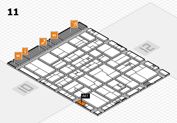 drupa 2016 Hallenplan (Halle 11): Stand A61