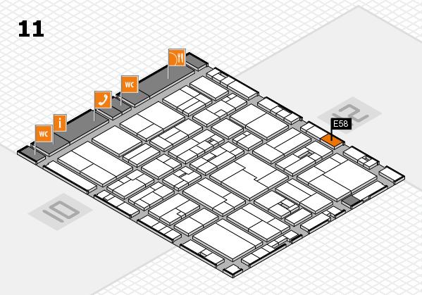 drupa 2016 hall map (Hall 11): stand E58