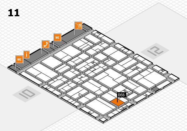 drupa 2016 hall map (Hall 11): stand B68