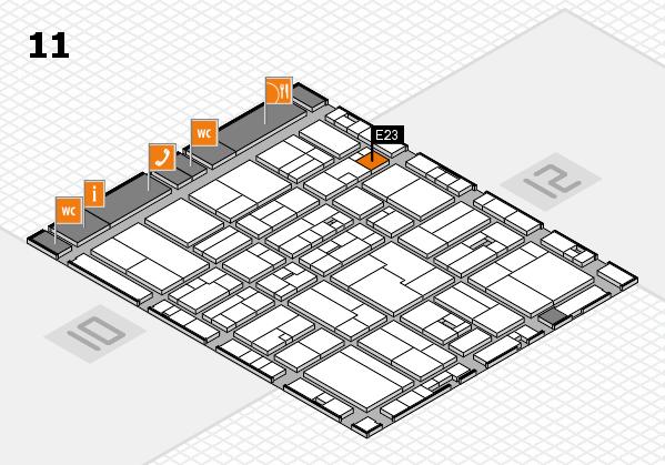 drupa 2016 hall map (Hall 11): stand E23