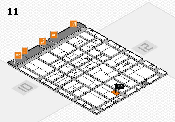 drupa 2016 Hallenplan (Halle 11): Stand C69