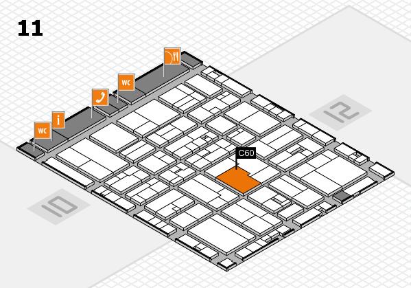 drupa 2016 hall map (Hall 11): stand C60