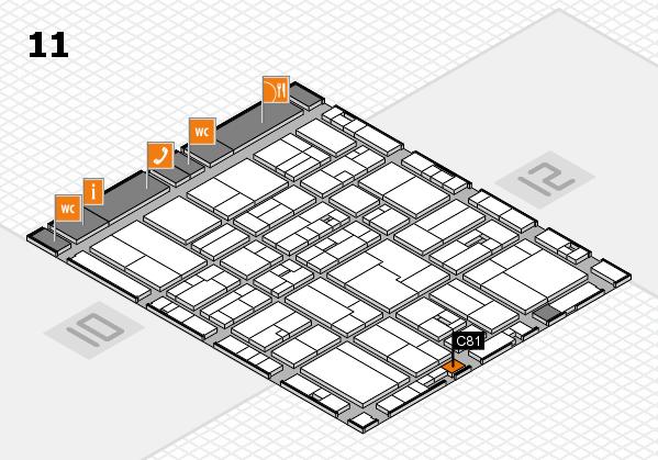 drupa 2016 hall map (Hall 11): stand C81